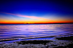 Winter sunset over the Gulf of Mexico in Apalachicola, Florida