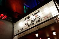 XM Radio First Anniversary at Club Soda in Montreal, January 30, 2007<br /> <br /> Photo : Pierre Roussel / Images Distribution