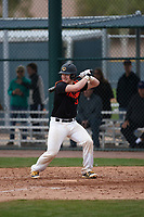 Joe Setting (10) of SALESIANUM High School in Wilmington, Delaware during the Under Armour All-American Pre-Season Tournament presented by Baseball Factory on January 15, 2017 at Sloan Park in Mesa, Arizona.  (Kevin C. Cox/MJP/Four Seam Images)