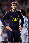 Fernando Llorente of Tottenham Hotspur FC reacts during the UEFA Champions League 2017-18 match between Real Madrid and Tottenham Hotspur FC at Estadio Santiago Bernabeu on 17 October 2017 in Madrid, Spain. Photo by Diego Gonzalez / Power Sport Images