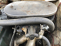 BNPS.co.uk (01202) 558833. <br /> Pic: Charterhouse/BNPS<br /> <br /> Pictured: Engine bay. <br /> <br /> A clapped-out Ford Escort which has been languishing in a garage for nearly 25 years is tipped to sell for £25,000.<br /> <br /> The rare 1975 Mk 1 RS2000 model is in a rusty state and is in need of lots of care and attention.