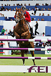 Equestrian - Showjumping - Meydan FEI Nations Cup.Mclain Ward (USA) aboard Rothchild in action during the Meydan FEI Nations Cup at the Royal Dublin Society (RDS) in Dublin.