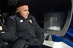 Sevilla FC's coach Jorge Sampaoli during Copa del Rey match between Real Madrid and Sevilla FC at Santiago Bernabeu Stadium in Madrid, Spain. January 04, 2017. (ALTERPHOTOS/BorjaB.Hojas)