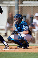 Hayden Dunhurst during the WWBA World Championship at the Roger Dean Complex on October 18, 2018 in Jupiter, Florida.  Hayden Dunhurst is a catcher from Carriere, Mississippi who attends Pearl River Central High School and is committed to Mississippi.  (Mike Janes/Four Seam Images)
