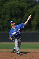Matt Snyder (11) of the Kentucky Wildcats pitches during a game against the UC Santa Barbara Gauchos at Caesar Uyesaka Stadium on March 20, 2015 in Santa Barbara, California. UC Santa Barbara defeated Kentucky, 10-3. (Larry Goren/Four Seam Images)