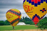 Two hot air ballons. Near Newberg. Oregon
