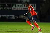 23rd February 2021; Kenilworth Road, Luton, Bedfordshire, England; English Football League Championship Football, Luton Town versus Millwall; Elijah Adebayo of Luton Town celebrates after he scores for 1-0 in the 55th minute