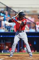 New Hampshire Fisher Cats third baseman Jason Leblebijian (8) at bat during a game against the Reading Fightin Phils on June 6, 2016 at FirstEnergy Stadium in Reading, Pennsylvania.  Reading defeated New Hampshire 2-1.  (Mike Janes/Four Seam Images)