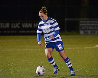20140221 - OOSTAKKER , BELGIUM : Gent Pauline Windels pictured during the soccer match between the women teams of AA Gent Ladies  and RAFC Antwerp Ladies , on the 19th matchday of the BeNeleague competition Friday 21 February 2014 in Oostakker. PHOTO DAVID CATRY