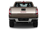 Straight rear view of a 2015 GMC Canyon SLT Crew Cab SWB 4 Door Truck Rear View  stock images