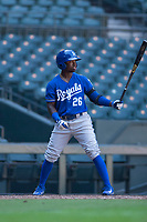 Kansas City Royals second baseman DJ Burt (26) at bat during an Instructional League game against the Arizona Diamondbacks at Chase Field on October 14, 2017 in Scottsdale, Arizona. (Zachary Lucy/Four Seam Images)