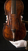 BNPS.co.uk (01202 558833)<br /> Pic: Phil Yeomans/BNPS<br /> <br /> Pictured: Hartleys violin sold for over a million pounds in 2013.<br /> <br /> A gold locket the tragic violinist on the Titanic gave to his sweetheart before he boarded the ill-fated liner has emerged for sale for £20,000.<br /> <br /> Maria Robinson kept hold of the treasured item that contained a photograph of fiance Wallace Hartley.