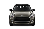 Car photography straight front view of a 2019 Mini mini Cooper 3 Door Hatchback