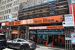 """Theatre Marquee unveiling for """"Linda Vista"""" on September 11, 2019 at the Hayes Theatre in New York City."""