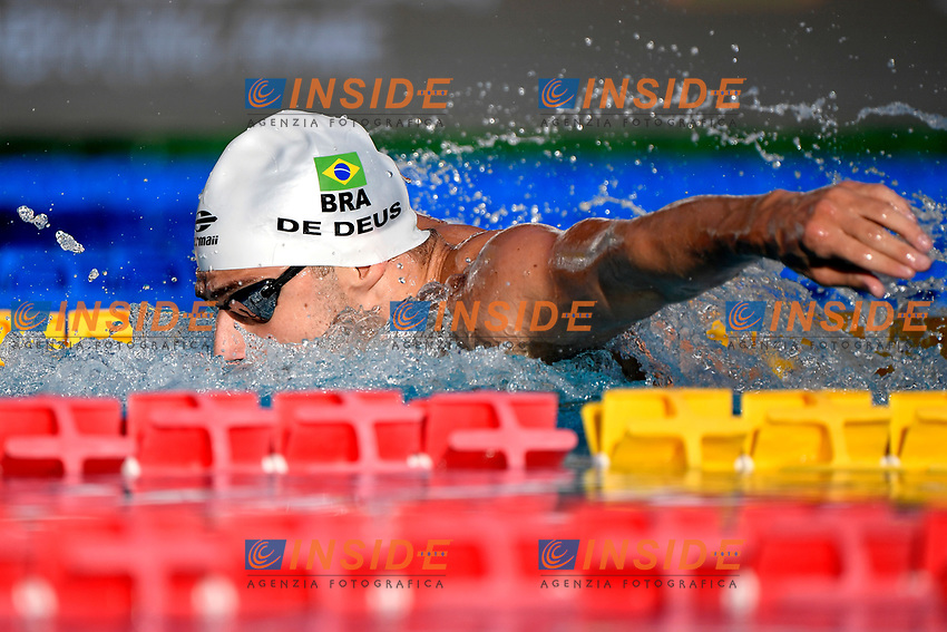 Leonardo Gomes De Deus of Brazil competes in the men 100m butterfly during the 58th Sette Colli Trophy International Swimming Championships at Foro Italico in Rome, June 26th, 2021.  Leonardo Gomes De Deus placed second.