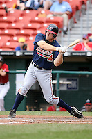 July 20th 2008:  Scott Thorman of the Richmond Braves, Class-AAA affiliate of the Atlanta Braves, during a game at Dunn Tire Park in Buffalo, NY.  Photo by:  Mike Janes/Four Seam Images