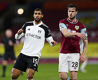 17th February 2021; Turf Moor, Burnley, Lanchashire, England; English Premier League Football, Burnley versus Fulham; Ruben Loftus-Cheek of Fulham is marked closely by Kevin Long of Burnley