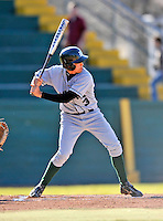 15 April 2008: Dartmouth College Big Green shortstop Erik Bell, a Senior from Sierra Madre, CA, in action against the University of Vermont Catamounts at Historic Centennial Field in Burlington, Vermont. The Catamounts rallied from a 7-3 deficit to win 8-7 over Dartmouth in a non-conference NCAA game...Mandatory Photo Credit: Ed Wolfstein Photo