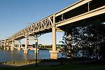 The Marquam Bridge over the Willamette River, Portland, Oregon