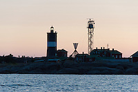A melange of graphic shapes cluster about Norrskär Lighthouse in the early dawn hours - Gulf of Bothnia, Finland