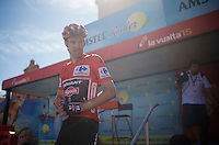 Tom Dumoulin (NLD/Giant-Alpecin) coming from the start podium<br /> <br /> stage 19: Medina del Campo - Avila (186km)<br /> 2015 Vuelta à Espana