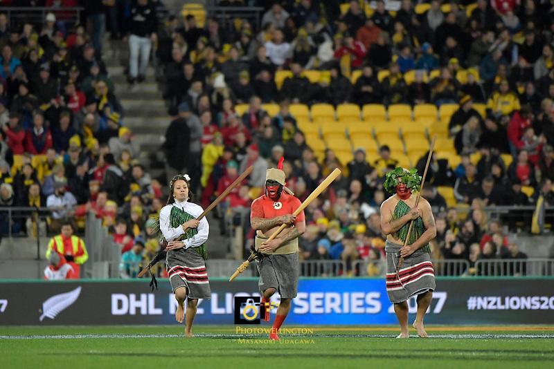 New Zealand Lions Series - Hurricanes v British and Irish Lions at Westpac Stadium, Wellington, New Zealand on Tuesday 27 June 2017.<br /> Photo by Masanori Udagawa<br /> www.photowellington.photoshelter.com.