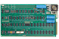 BNPS.co.uk (01202 558833)<br /> Pic: Christie's/BNPS<br /> <br /> A pioneering Apple-1 computer that paved the way for the trillion dollar company has emerged for sale for £230,000. ($300,000)<br /> <br /> The 'motherboard' is one of just 200 Apple founder Steve Jobs and his associate Steve Wozniak designed in 1976.<br />  <br /> The green electric board was described as the 'heartbeat' of the revolutionary computer and measures approximately 15ins by 9ins.<br /> <br /> Designed in 1976 by the Apple co-founder Wozniak, the Apple-1 was the first pre-assembled personal computer to come to market.<br /> <br /> It is being sold with auction house Christie's New York.
