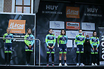 Aromitalia-Basso Bikes-Vaiano at sign on before La Fleche Wallonne Femmes 2020, running 124km from Huy to Mur de Huy, Belgium. 30th September 2020.<br /> Picture: ASO/Thomas Maheux | Cyclefile<br /> All photos usage must carry mandatory copyright credit (© Cyclefile | ASO/Thomas Maheux)