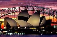 Images from the Book Journey Through Colour and Time,Sydney Opera House and Harbor Bridge at Sunset