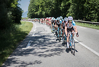 Team AG2R-La Mondiale taking control at the front in the run-up to the Mont du Chat (1504m/8.7km/10.3%)<br /> <br /> Stage 6: Le parc des oiseaux/Villars-Les-Dombes › La Motte-Servolex (147km)<br /> 69th Critérium du Dauphiné 2017