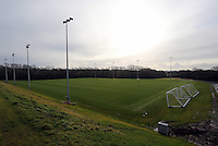 Pictured: One of the grass pitches. Tuesday 14 January 2013<br /> Re: Swansea City Football Club chairman Huw Jenkins receives the keys to the new training facility at Fairwood Common, on the outskirts of Swansea, south Wales.