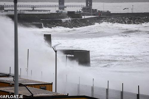 Waves at Dun Laoghaire Baths on Dublin Bay