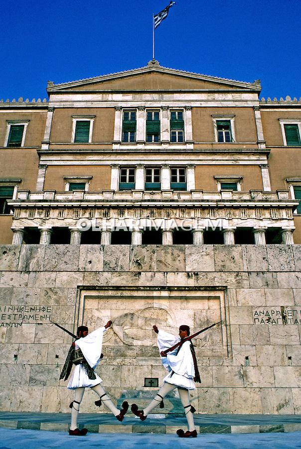 Guarda imperial em Atenas. Grécia. 1985. Foto de João Caldas.