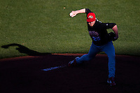 Brooks McDowell (25) of the Southern Illinois University- Edwardsville Cougars delivers a pitch during a game against the Missouri State Bears at Hammons Field on March 10, 2012 in Springfield, Missouri. (David Welker / Four Seam Images).