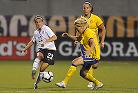 Sarah Huffman #22,..USWNT tied Sweden 1-1 at Morrison Stadium, Omaha Nebraska.