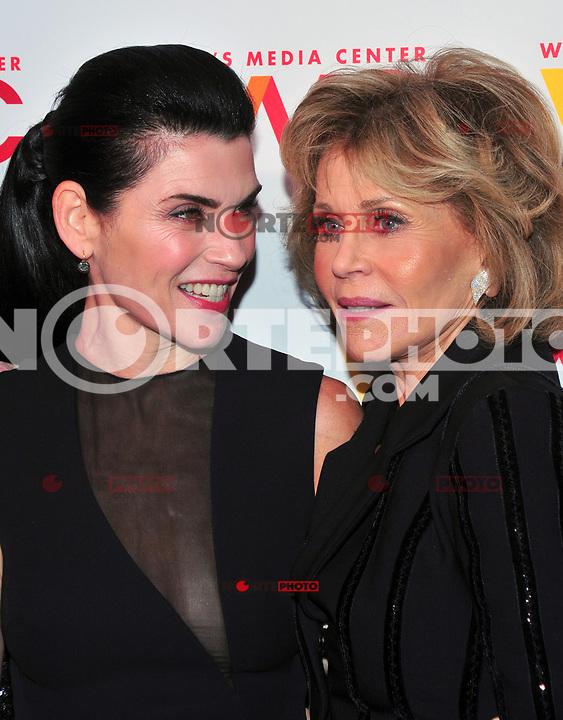 NEW YORK, NY - OCTOBER 26: Julianna Margulies and Jane Fonda at the Women's Media Center 2017 Women's Media Awards at Capitale on October 26, 2017 in New York City. Credit: John Palmer/MediaPunch /NortePhoto.com