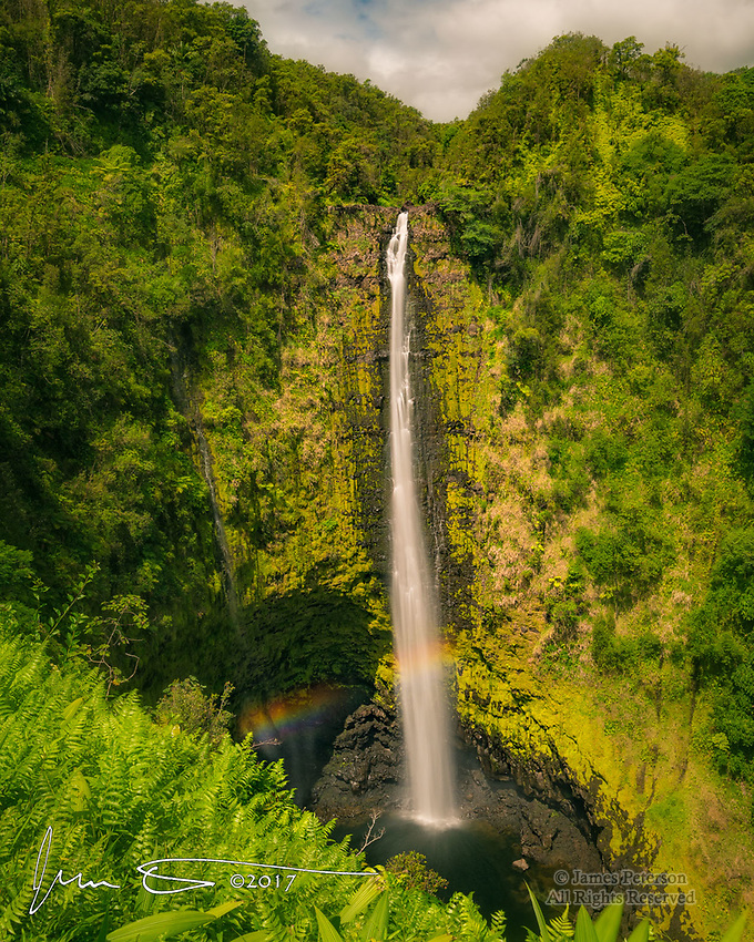 Akaka Falls, Big Island, Hawaii ©2017 James D Peterson.  This 442 foot highwaterfall, northwest of Hilo, is on one of the many streams that drain the slopes of the Mauna Kea volcano.