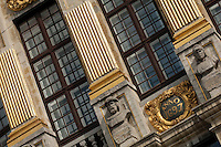 Detail of the Maison des Ducs de Brabant facade, Brussels, Belgium