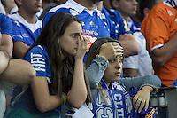 BELO HORIZONTE, MG, 04.05.2014 – COPA LIBERTADORES DA AMÉRICA 2014 – CRUZEIRO X SAN LORENZO Torcedor  do Cruzeiro durante jogo contra San Lorenzo valido pela Quartas de Finais, no estádio Minerão, na noite desta Quarta (14) (Foto: MARCOS FIALHO / BRAZIL PHOTO PRESS)