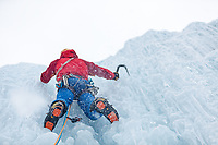 Andy Turner ice climbing, BC, Canada