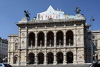 Staatsoper am Opernring, Wien, Österreich, UNESCO-Weltkulturerbe<br /> Opera House at Opernring, Vienna, Austria, world heritage