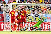 Divock Origi of Belgium scores a goal to make it 1-0