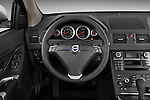Steering wheel view of a 2012 Volvo XC90