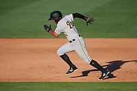 Bradenton Marauders second baseman Trae Arbet (26) runs the bases during the first game of a doubleheader against the Lakeland Flying Tigers on April 11, 2018 at Publix Field at Joker Marchant Stadium in Lakeland, Florida.  Lakeland defeated Bradenton 5-4.  (Mike Janes/Four Seam Images)