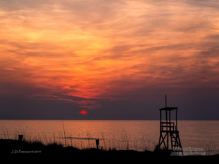 Daybreak over Atlantic Ocean, North Carolina