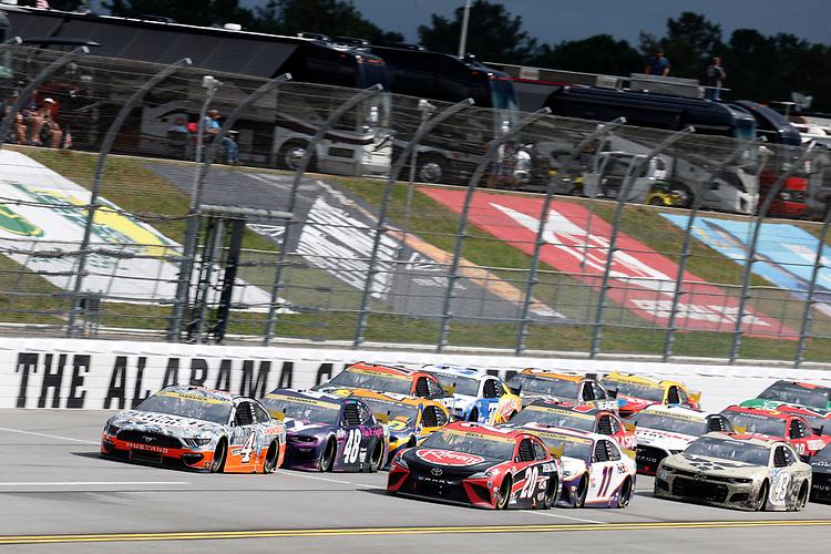 #4: Kevin Harvick, Stewart-Haas Racing, Ford Mustang Busch Light #Hunt4Busch, #20: Christopher Bell, Joe Gibbs Racing, Toyota Camry Rheem