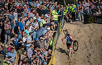 Mathieu van der Poel (NED/Beobank-Corendon) in the infamous Zonhoven 'Kuil' (or 'Pit')<br /> <br /> Elite Men's Race<br /> CX Super Prestige Zonhoven 2017
