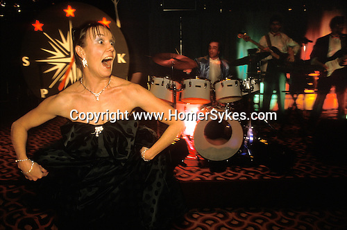Mayfair, London.  1990's<br /> Sparks fly at the SPARKS charity fund raising ball at the London Hilton Hotel.1992,