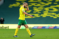 20th February 2021; Carrow Road, Norwich, Norfolk, England, English Football League Championship Football, Norwich versus Rotherham United; Teemu Pukki of Norwich City rubs his head as he is substituted