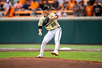 Vanderbilt Commodores starting pitcher Jack Leiter (22) delivers a pitch to the plate against the Tennessee Volunteers on Robert M. Lindsay Field at Lindsey Nelson Stadium on April 17, 2021, in Knoxville, Tennessee. (Danny Parker/Four Seam Images)